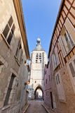 Bell Tower (XVI c.) of Notre Dame du Val in Provins, France Stock Photos