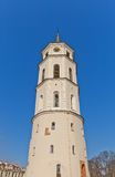 Bell tower (XVIII c.) of St. Stanislov Cathedral. Vilnius Stock Images