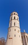 Bell tower (XVIII c.) of St. Stanislov Cathedral. Vilnius Stock Photo