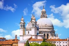 Bell Towers and Church Dome in Venice stock image