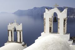 Bell towers in Greece Stock Photo