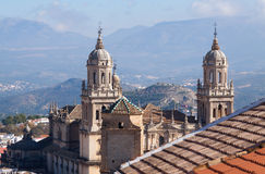 Bell towers of Jaen Cathedral Stock Images