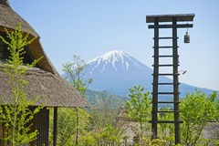Bell towers and Old japanese house. Royalty Free Stock Image