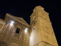 Bell town of the old town of Sirolo, Conero, Marche, Italy Royalty Free Stock Image