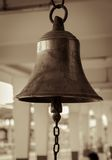 Bell in train station Royalty Free Stock Image