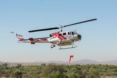 Bell UH-1H helicopter during Los Angeles American Heroes Air Sho Royalty Free Stock Image