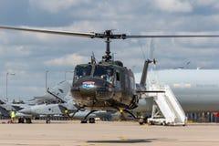 Bell UH-1H Iroquois Huey militarny oszczędnościowy helikopter G-HUEY Zdjęcia Royalty Free