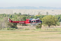 BELL UH-1H Rotorcraft  helicopter during Los Angeles American He. Lakeview Terrace, USA - June 18, 2016: BELL UH-1H Rotorcraft  helicopte during Los Angeles Royalty Free Stock Image