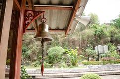 Bell und Sprecher der Station stockfotos