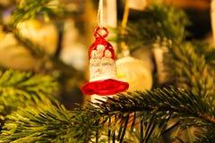 Bell verzierte Weihnachten Stockfotos