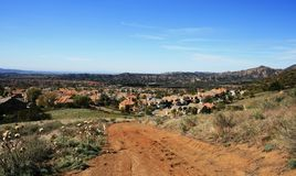 Bell View Trail Panorama. Suburban panorama from a nature trail in south Orange County, CA Stock Photography