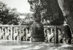 The bell was made ​​in black and white. Image Royalty Free Stock Image