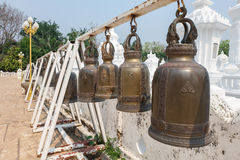 Bell in Wat Suan Dok, thai temple in chiang mai Stock Image