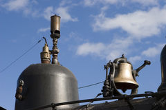 Bell and Whistle. The bell and whistle on top of a steam locomotive Royalty Free Stock Photo