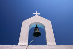 BELL OF WHITE BELLTOWER Royalty Free Stock Photo