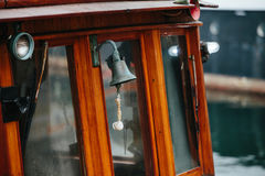 Bell on wooden ship Royalty Free Stock Photography