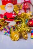 Bell y regalos Fotografía de archivo libre de regalías
