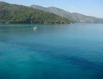 Bella acqua verde blu della costa di Haiti, i Caraibi fotografia stock