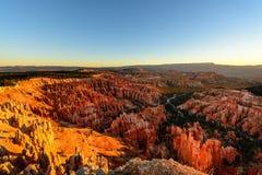 Bella alba al parco nazionale di Bryce Canyon, Utah immagini stock libere da diritti