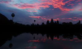 Bella alba al tempio di Angkor Wat Immagine Stock