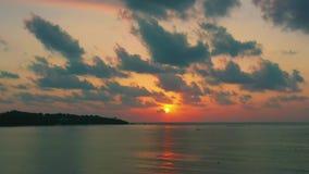 Bella alba al video del fuco del mare archivi video