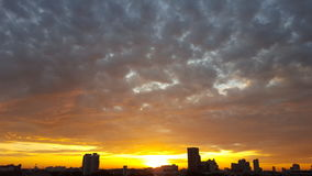 Bella alba del cielo Immagini Stock Libere da Diritti