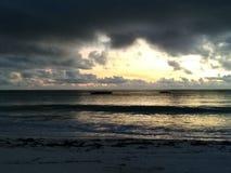 Bella alba di Zanzibar immagine stock