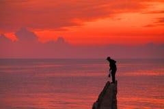 Bella alba rossa Immagine Stock