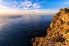 Bella alba in sierra parco naturale di gelata Fotografie Stock Libere da Diritti