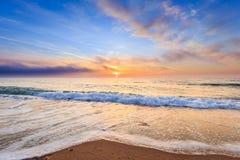 Bella alba sopra il mare Immagini Stock Libere da Diritti
