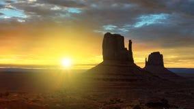 Bella alba sopra la valle iconica del monumento, Arizona Fotografia Stock