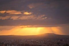 Bella alba sopra Palma Immagini Stock