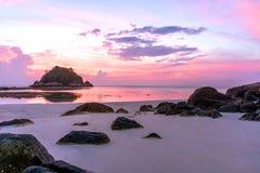 Bella alba su Koh Lipe Beach Thailand, vacanze estive immagini stock libere da diritti