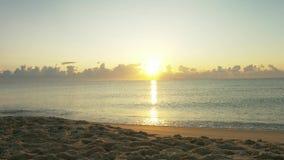 Bella alba sul mare archivi video