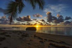 Bella alba sulla spiaggia di paradiso, Seychelles 2 Immagine Stock Libera da Diritti