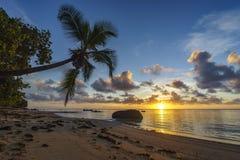 Bella alba sulla spiaggia di paradiso, Seychelles 4 Fotografia Stock Libera da Diritti