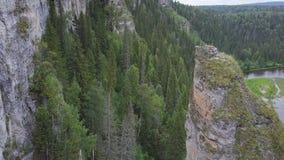 Bella allerta della montagna alta sulle montagne clip Valle enorme con la vista superiore della foresta spessa dell'eucalyptus di Immagine Stock Libera da Diritti