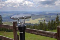 Bella allerta della montagna dalla piattaforma di osservazione Fotografia Stock Libera da Diritti