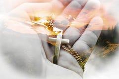 Bella alta qualità del fondo di Jesus Christ Symbol With Nature immagini stock
