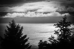 Bella alta vista del Pacifico dalla costa dell'Oregon Fotografia Stock