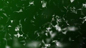 Bella animazione 3d della rete digitale globale che cresce con il volo geometrico Concetto di affari collegato HD 1080 Grandi dat royalty illustrazione gratis