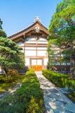 Bella architettura al tempio d'argento di Pavillion Ginkakuji Immagini Stock Libere da Diritti
