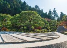Bella architettura al tempio d'argento di Pavillion Ginkakuji Fotografia Stock Libera da Diritti