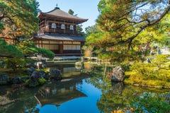 Bella architettura al tempio d'argento di Pavillion Ginkakuji Immagine Stock Libera da Diritti