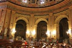 Bella architettura Cattedrale gotica di Madrid, Spagna Fotografia Stock