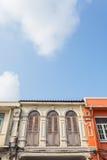 Bella architettura Cino-portoghese di vecchia città di Phuket, Thail immagini stock libere da diritti