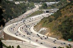 Bella architettura dell'autostrada senza pedaggio di California Immagini Stock Libere da Diritti