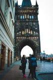 Bella architettura della repubblica Ceca fotografia stock