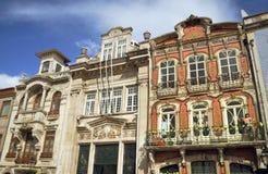 Bella architettura delle case a Aveiro, Portogallo Fotografia Stock