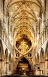 Bella arte artística de la catedral D de Wells Fotografía de archivo